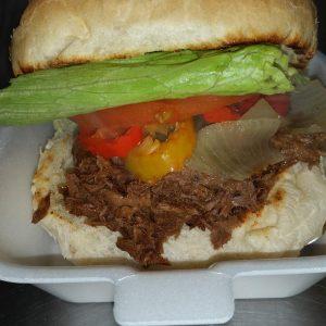 BBQ Beef on Kaiser