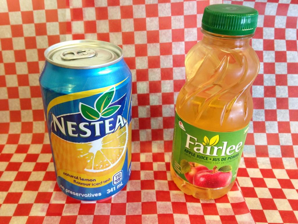 Iced Teas and Apple Juice