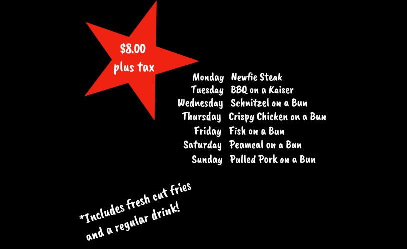 Manitou Takeout Daily Specials